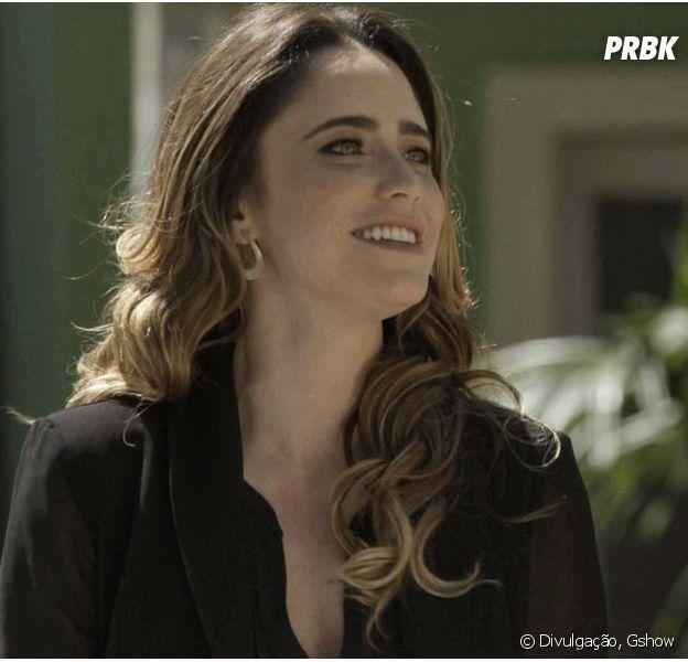 "Em ""Haja Coração"",Bruna (Fernanda Vasconcellos)planeja sair do Brasil comGiovanni (Jayme Matarazzo)"