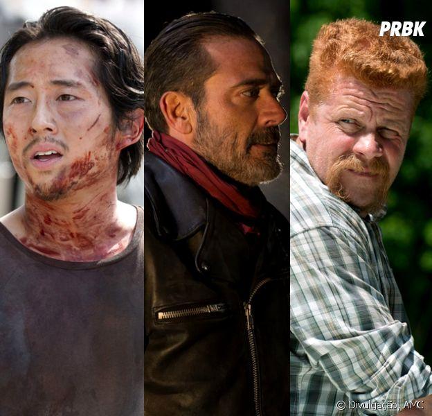 """Em """"The Walking Dead"""", Glenn e Abraham morrem pelas mãos de Negan, durante estreia da 7[ temporada!"""