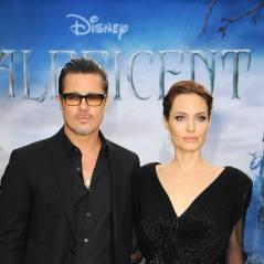 """Com look inspirado em """"Malévola"""", Angelina Jolie divulga filme com Brad Pitt"""