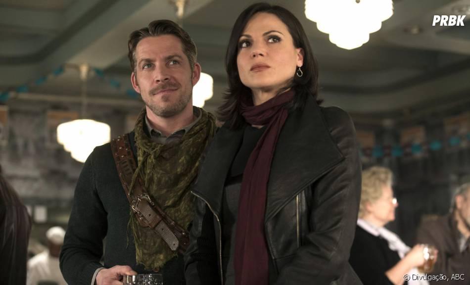 """Em """"Once Upon a Time"""", Regina (Lana Parrilla) e Robin (Sean Maguire) encontraram uma pedra no seu caminho!"""