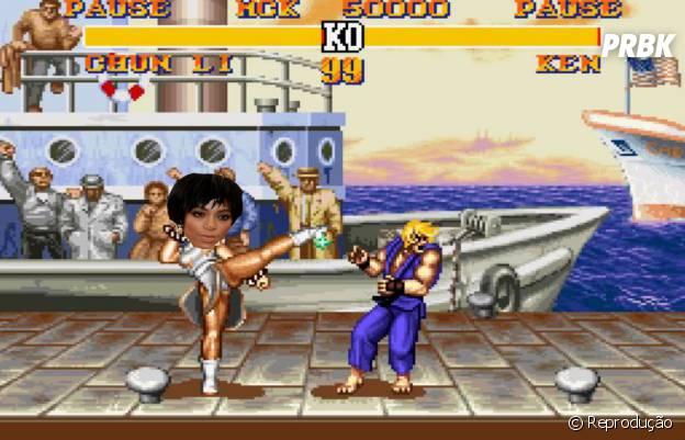 """Ou será que Solange Knowles fez um intensivo com Chun-Li, do jogo """"Street Fight""""?!"""