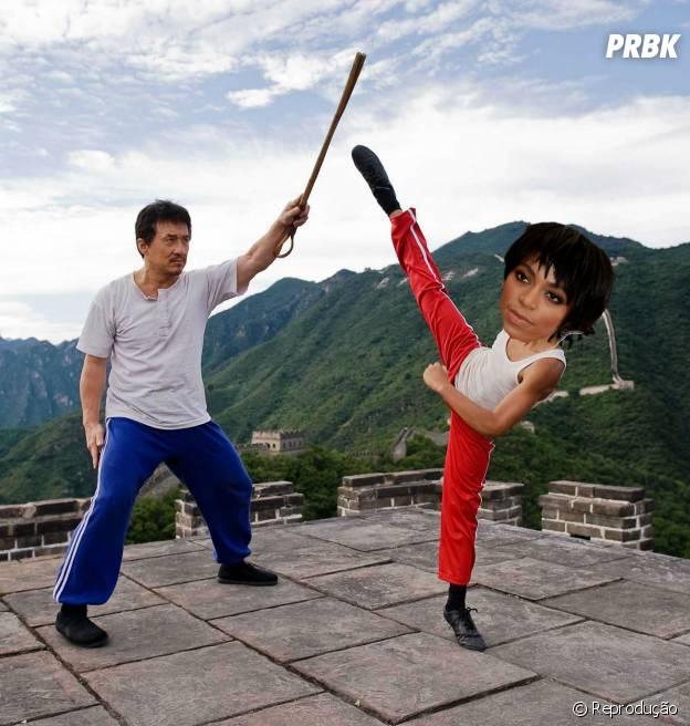"""Ou será que Jackie Chan quer fazer de Solange Knowles a nova rainha da franquia """"Karate Kid""""?"""