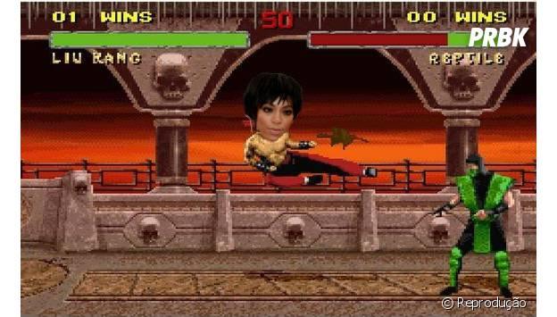 """Ou Solange Knowles seria uma pupila de Liu Kang do jogo """"Mortal Combate""""?"""