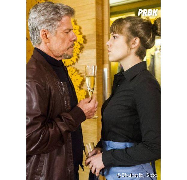 """Em """"A Lei do Amor"""", Isabela (Alice Wegmann) é humilhada por Tião (José Mayer) no aniversário de Letícia (Isabella Santoni)!"""