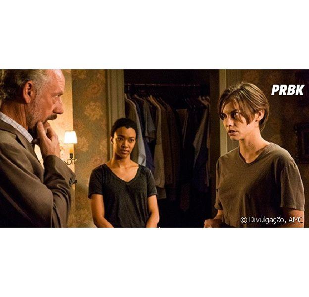 """Em """"The Walking Dead"""": Megan (Lauren Cohan) reaparece e enfrenta o líder de Hilltop"""