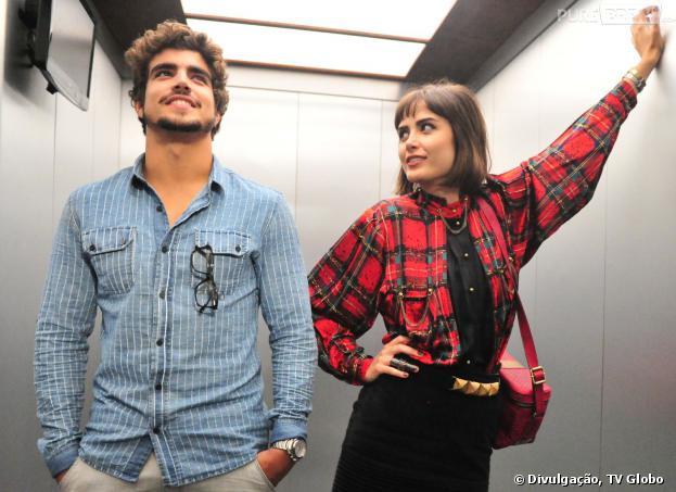 """Michel (Caio Castro) e Patrícia (Maria Casadevall) não vão resistir um ao outro em """"Amor à Vida""""!"""