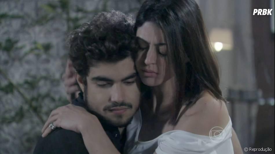 """Em """"Amor à Vida"""", Michel (Caio Castro)terminou com Patrícia (Maria Casadevall)por causa de Silvia (Carol Castro), sua ex-mulher"""