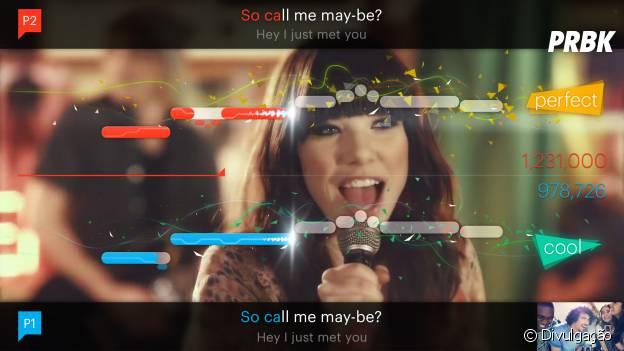 """O trailer do aplicativo """"SingStar Ultimater Party"""" vem com a divertida música """"Call Me Maybe"""" da Carly Rae Japsen"""