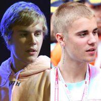 Justin Bieber e seu cabelo: com franjinha ou careca? Qual visual você prefere?