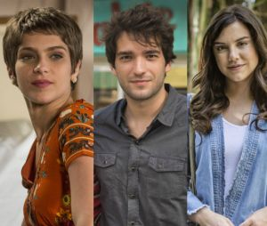 """Novela """"A Lei do Amor"""": Letícia (Isabella Santoni) descobre traição de Tiago (Humberto Carrão) com Marina (Alice Wegmann)"""