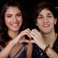 """Christian Figueiredo e Giovanna Grigio dão conselhos amorosos no canal """"Eu Fico Loko"""""""