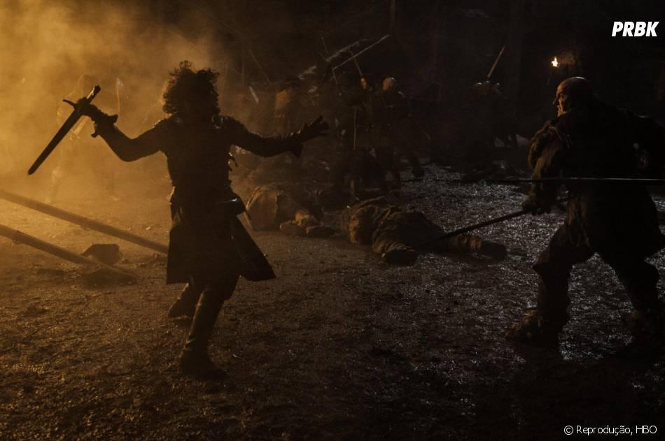 """Em """"Game of Thrones"""", Jon Snow (Kit Harrington) vai lutar contra os Selvagens que querem chegar ao outro lado da Muralha!"""
