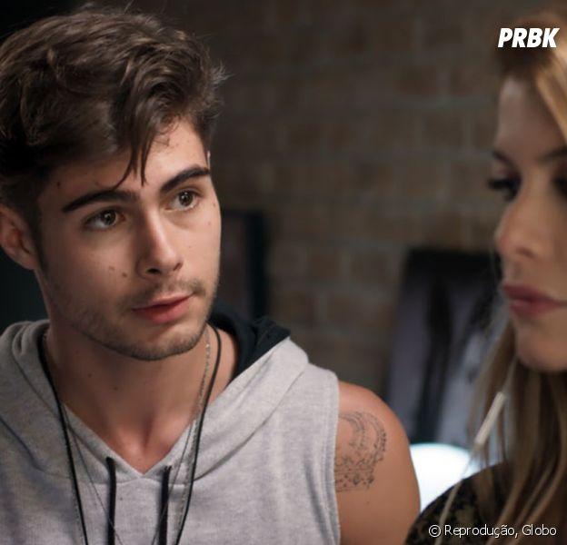 "Na novela ""Rock Story"", Diana (Alinne Moraes) abandona Léo Regis (Rafael Vitti) no altar"