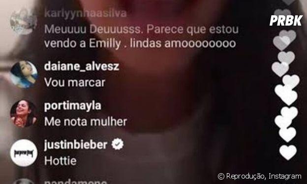 """Justin Bieber chama Mayla, do """"BBB17"""", de gostosa no Instagram!"""
