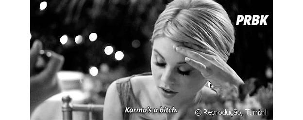 "Lauren (Bailey Buntain) odeia a Karma (Katie Stevens) e sua popularidade em ""Faking It""!"