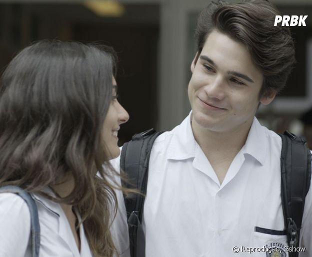 """Em """"Malhação"""", os protagonistas Rodrigo (Nicolas Prattes) e Luciana (Marina Moschen) também são bem queridos"""