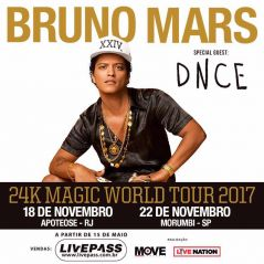 "Bruno Mars anuncia datas extras da ""24K Magic World Tour"" no Brasil!"