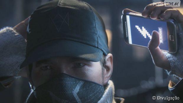 """Em """"Watch Dogs"""" o celular de Aiden tem poderes especiais"""