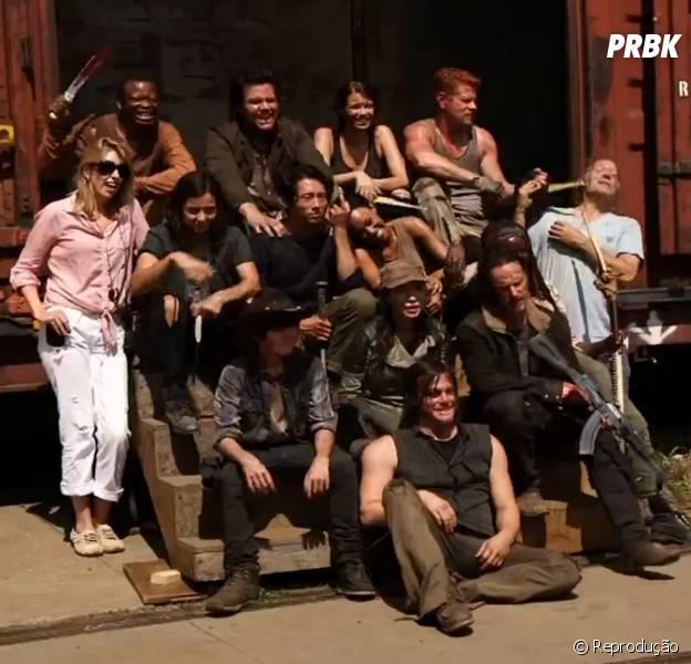 """O elenco de """"The Walking Dead"""" está todo reunido outra vez!"""