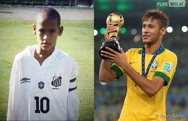 Neymar quando era criança