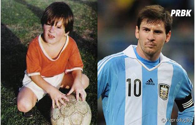 Messi gosta de futebol desde que era criança!
