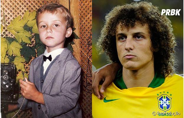David Luiz tinha os cabelos bem mais comportados quando criança
