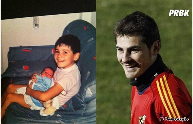 Casillas quando era criança.