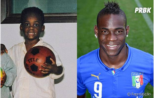 O polêmico Balotelli também sempre gostou de futebol, desde molequinho!
