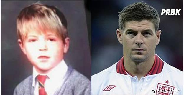 O meia Gerrard mudou bastante desde que era criança