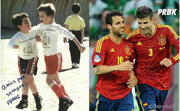 Piqué e Fàbregas, amigos de infância!