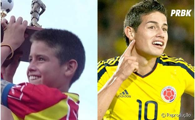James Rodríguez levantando a taça desde criancinha!