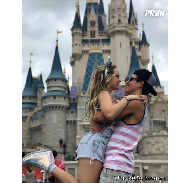 Larissa Manoela e Thomaz Costa estão curtindo as férias em Orlando!