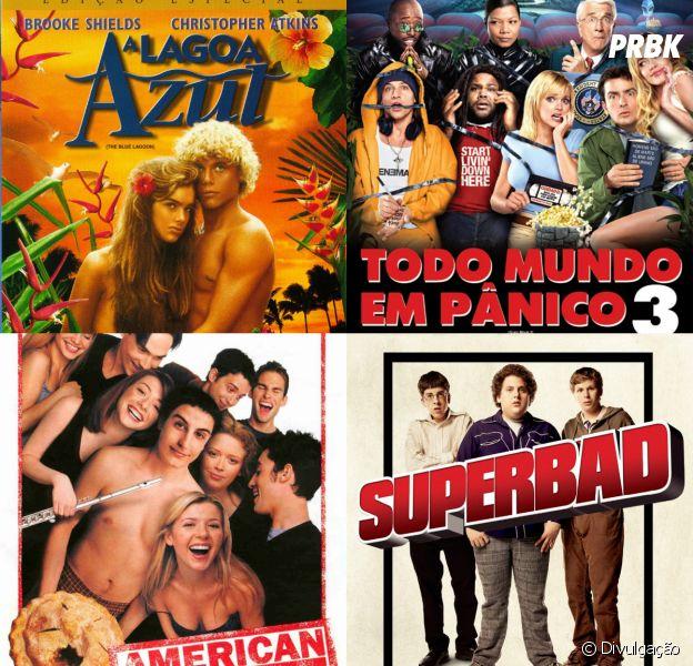 """""""A Lagoa Azul"""", """"Todo Mundo em Pânico"""", """"American Pie"""", """"Superbad"""" e os 10 filmes que todo mundo viu quando era criança, mas que não eram infantis!"""