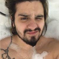 Luan Santana pelado? Cantor aparece na banheira em nova foto no Twitter!