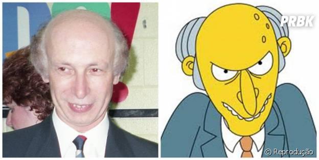 Mr. Burns tem um irmão na vida real!