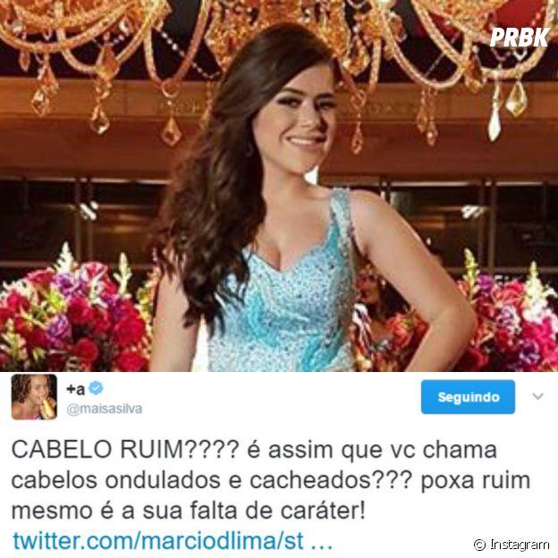 """Tweet da Maisa Silva: """"CABELO RUIM????"""""""