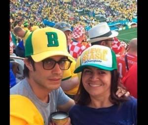 Gael Garcia assistiu ao jogo entre Brasil e Colômbia