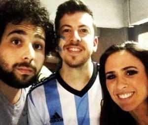 Christopher Mintz-Plasse foi tietado por Tatá Werneck no jogo da Argentina na Copa do Mundo