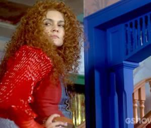"""Gina (Paula Barbosa) não quer dar nenhuma chance para Nando (Johnny Massaro) em """"Meu Pedacinho de Chão"""""""