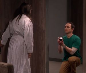 "Em ""The Big Bang Theory"": Sheldon (Jim Parsons) se declara para Amy (Mayim Bialik)!"
