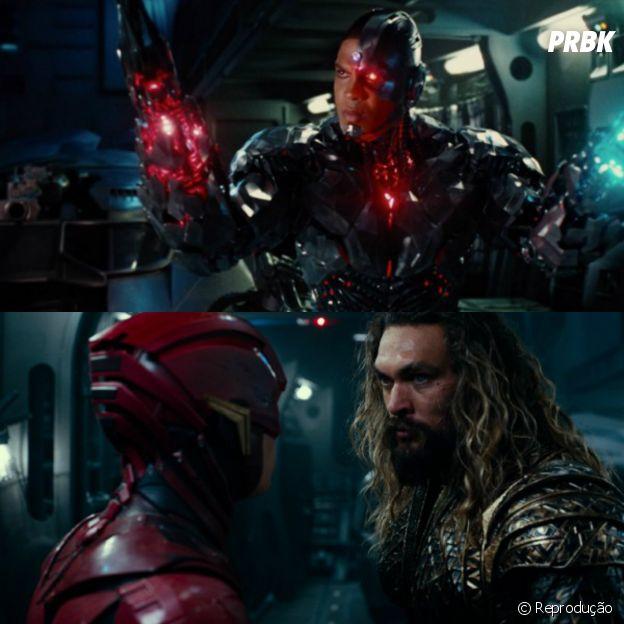 """Em """"Liga da Justiça"""": Flash (Ezra Miller), Aquaman (Jason Mamoa) e Cyborg (Ray Fisher) também se destacam!"""