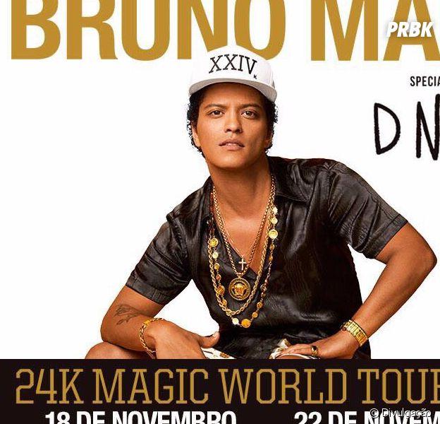 """Bruno Mars chega em São Paulo para shows da """"24K Magic World Tour"""""""
