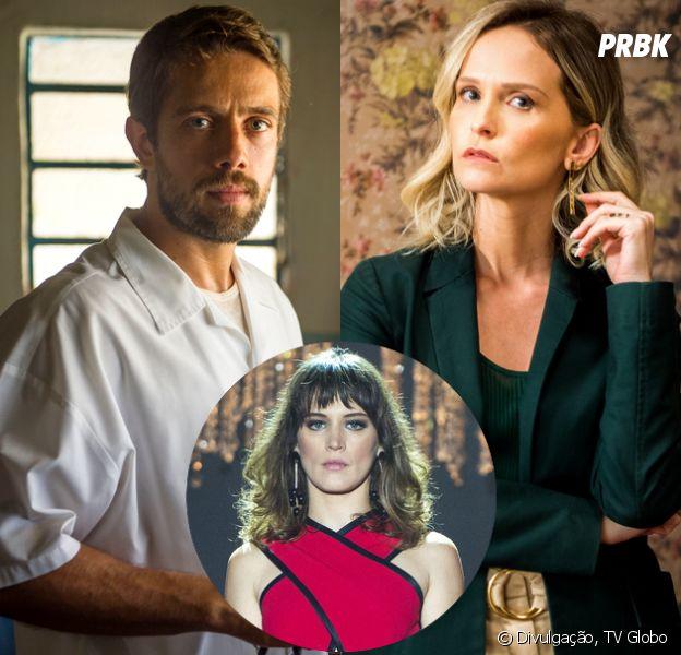 "Na novela ""O Outro Lado do Paraíso"", Renato (Rafael Cardoso) se une a Fabiana (Fernanda Rodrigues) para tirar dinheiro de Clara (Bianca Bin)"