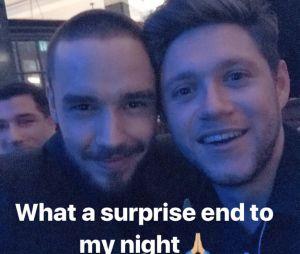 Niall Horan e Liam Payne se encontram durante Brit Awards 2018
