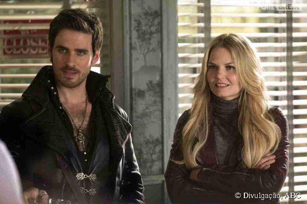 """O futuro de Emma (Jennifer Morrison) e Hook (Colin O'Donoghue) é promissor, na quarta temporada de """"Once Upon a Time"""""""