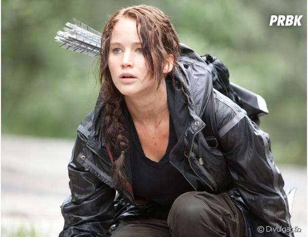"Jennifer Lawrence é a protagonista da saga ""Jogos Vorazes"""