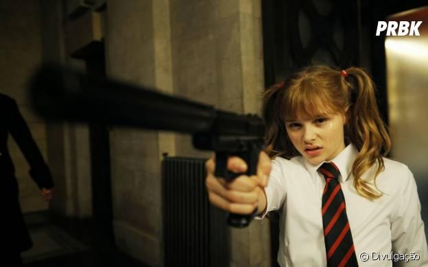 "Chloë Moretz é a heroína Hit-Girl em ""Kick-Ass"""