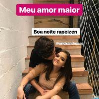 """Mel Maia se declara para o namorado, Erick Andreas: """"Meu amor maior"""""""