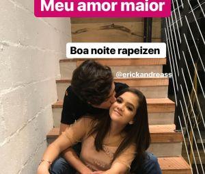 Mel Maia posta declaração fofa para Erick Andreas, seu primeiro namorado