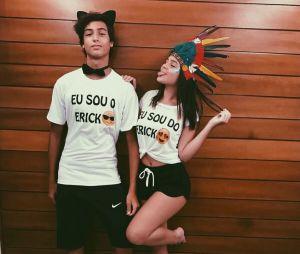 Mel Maia e o namorado, Erick Andreas, vivem postando fotos românticas nas redes sociais
